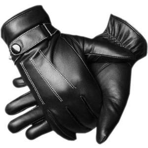 おしゃれなレザーのメンズ革手袋です。  これがあれば寒い日もわざわざ手袋をとって操作する必要なし!!...