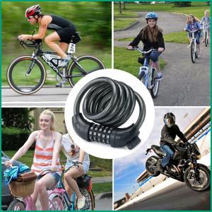 自転車 鍵 ワイヤーロック 5桁 ダイヤル式 バイク 自由設定 ブラケット付 シートポスト用 ロック|cente|03