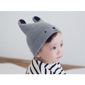ベビー くま ニット帽子 赤ちゃん ニット 帽子 ぼうし 子供用 クマさん 耳付き 防寒 ベビー 新生児 子供 秋冬 男の子 女の子