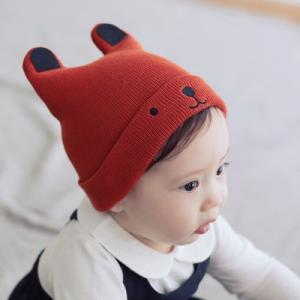 c0a6fa1d51efe ... ベビー くま ニット帽子 赤ちゃん ニット 帽子 ぼうし 子供用 クマさん 耳付き 防寒 ベビー ...