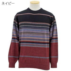 シニアファッション メンズ 70代 80代 90代 日本製 ニット セーター クルーネック (服 衣料 高齢者 シニアファッション 男性 紳士 メンズ) 敬老の日 秋 介護|center-urashima