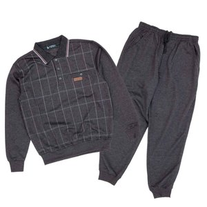 シニア  春 秋■スウェットスーツ ポロ ブルゾン パンツ 上下セット 丸首 メンズ シニアファッション 紳士服 70代 80代 90代 高齢者 服|center-urashima