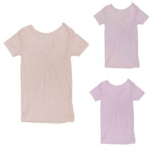 シニアファッション 半袖 綿 肌着 レース付き インナー(服 衣料 高齢者 婦人 女性 レディース) 母の日 敬老の日 介護|center-urashima