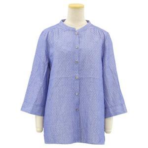 ダブルガーゼ 綿100 7分袖 ブラウス 婦人 シニアファッション 春夏 70代 80代 90代 介護 母の日 敬老の日|center-urashima