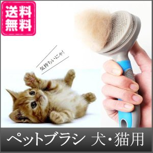 グルーミング ペットブラシ 犬 猫 抜け毛 対策 片手 簡単 Sサイズ
