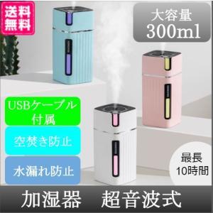 加湿器 スチーム式 卓上 コンパクト USB