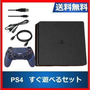 PlayStation 4 本体 ジェット・ブラック 500GB (CUH-2100AB01) 中古