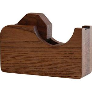 オークヴィレッジ テープカッター 大 国産天然木の無垢材 ブラウン 01010-11 central-bookstore