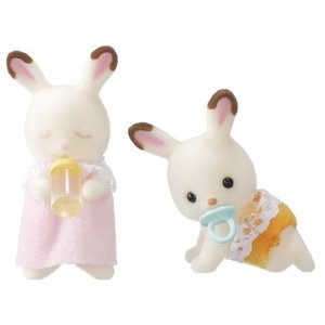 シルバニアファミリー ショコラウサギのふたごちゃん ウ-56|central-bookstore