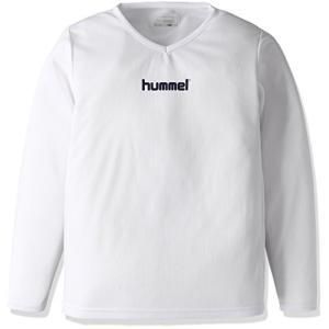 [ヒュンメル] トレーニングウェア L/Sインナーシャツ [ジュニア] HJP5140 ホワイト (10) 日本 140 (日本サイズ140 相当)|central-bookstore