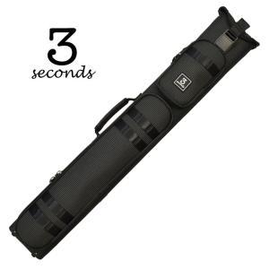 3 Seconds CSB2B/4S-5 ダブルショルダー ハードケース (ドットブラック) 2バット4シャフト キューケース central-inc