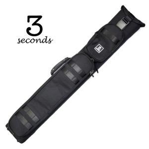 3 Seconds CSB3B/5S-2 ダブルショルダー ハードケース (ブラック) 3バット5シャフト キューケース central-inc