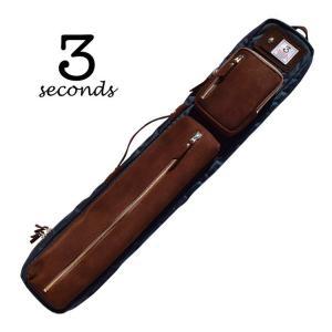 3 Seconds HS24 3セカンド 2バット4シャフト ソフトキューケース 2B/4S (ネイビー/ブラウン) central-inc