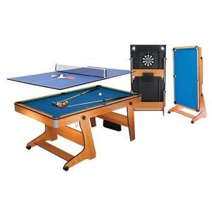 ビリヤード台 Riley 6フィート 自立式ポケットテーブル FP-6TT(ソフトチップダーツボード、テーブルトップ/卓球台付)