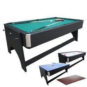 JBS 7フィート 4in1 テーブル Snow Tiger スノータイガー ビリヤード+エアホッケー+テーブルトップ+卓球台|central-inc