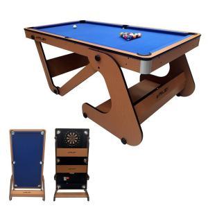 Riley 6フィート 自立式ポケットテーブル ビリヤード台 RFPT-6(ソフトチップダーツボード付き)|central-inc
