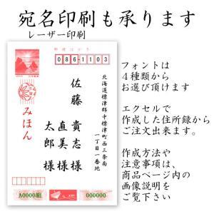 2020 年賀状 宛名印刷 10枚単位 年賀状印刷のオプション