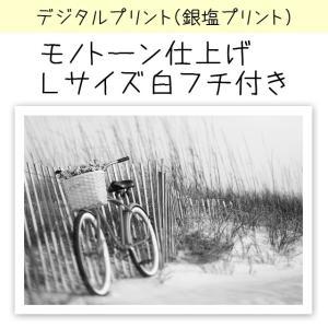 デジタルプリント(銀塩仕上げ) カラー写真を白黒風に仕上げます 印画紙サイズ:Lサイズ(12.7×8...