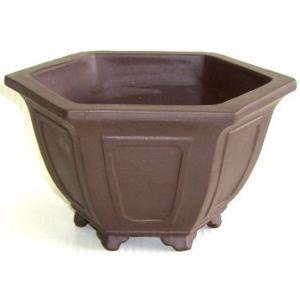 植木鉢 陶器鉢 六角外縁額入 「5.0」号 7890 ceramicflowerpotriki