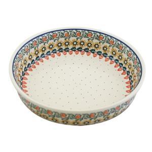 ラウンドオーブンディッシュ No.858 Ceramika Artystyczna ( セラミカ / ツェラミカ ) ポーリッシュポタリー|ceramika-artystyczna