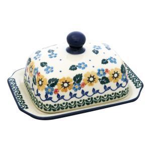 バターディッシュスクエア No.2261X Ceramika Artystyczna ( セラミカ / ツェラミカ ) ポーリッシュポタリー|ceramika-artystyczna