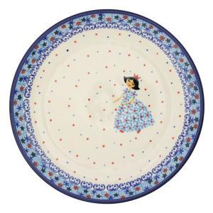 限定柄 20cmプレート No.2285X Ceramika Artystyczna ( セラミカ / ツェラミカ ) ハンドメイドのポーランド食器 ・ 陶器|ceramika-artystyczna