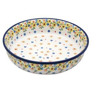ラウンドオーブンディッシュ No.2225X Ceramika Artystyczna ( セラミカ / ツェラミカ ) ポーリッシュポタリー|ceramika-artystyczna