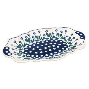 オーバルフレアプレート大 No.377Y Ceramika Artystyczna ( セラミカ / ツェラミカ ) ポーリッシュポタリー|ceramika-artystyczna