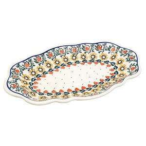 オーバルフレアプレート大 No.858 Ceramika Artystyczna ( セラミカ / ツェラミカ ) ポーリッシュポタリー ceramika-artystyczna