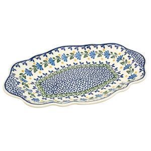 オーバルフレアプレート大 No.883 Ceramika Artystyczna ( セラミカ / ツェラミカ ) ポーリッシュポタリー|ceramika-artystyczna