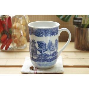 ヨーロッパの文化のような中国大陸の文化のような・・・  独特の雰囲気のあるマグカップです♪  絵がき...