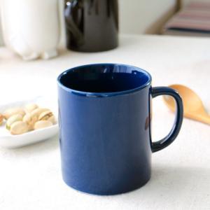 使い勝手の良い濃紺のマグカップ。 くつろぎ時間にこちらのマグにジュースやコーヒーを入れてクッキーを添...
