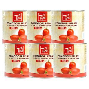 マンマ・ティーナ イタリア産 トマト ホール缶2.5kg×6缶[常温]便でお届け【3〜4営業日以内に...