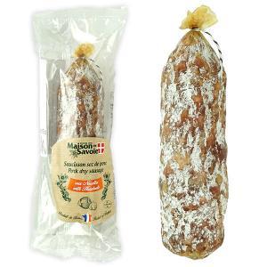 フランス産サラミ ソシソンセック サヴォワ ヘーゼルナッツ 200g (1本)[賞味期限:お届け後3...
