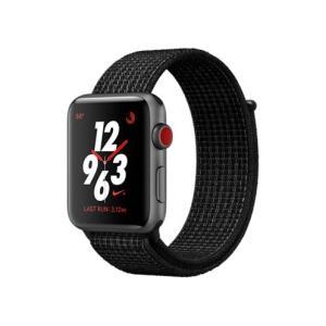 Apple Watch Nike+ Series 3 GPS+Cellularモデル 42mm MQMH2J/A (ブラック/ピュアプラチナNikeスポーツループ)新品・即納|ceresu-syouji