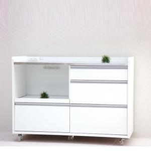 キッチンカウンター 食器棚 完成品 国産 120cm幅 ガルト パレスの写真