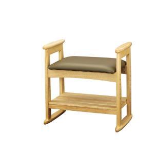 座椅子 肘付スツール ナチュラル W-5H|cestlavie