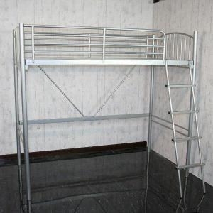 二段ベッド 2段ベッド ベット パイプベッド ロフトベット シングル 大人 シルバー カーゴ|cestlavie