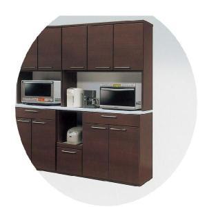 レンジ台 レンジボード 食器棚 人気 120cm幅 おしゃれ アウトレット価格 120オープン ダークブラウン ミント|cestlavie