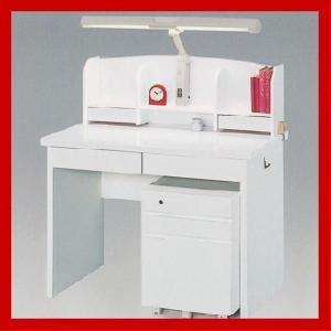 学習机 勉強机 学習デスク 子供机 ホワイト 4点セット ラッキー(ライト付|cestlavie