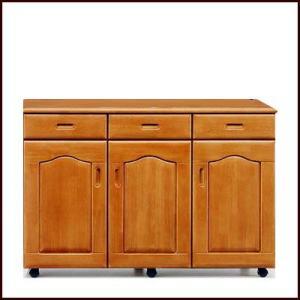 キッチンカウンター 食器棚 完成品 国産 キャスター付 120cm幅 セルバ|cestlavie