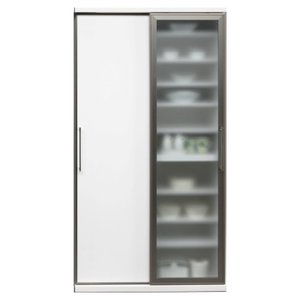 食器棚 ダイニングボード 完成品 人気 ガラス 100cm幅 サマンサ|cestlavie