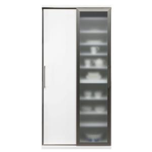 食器棚 ダイニングボード 完成品 人気 ガラス 90cm幅 サマンサ|cestlavie