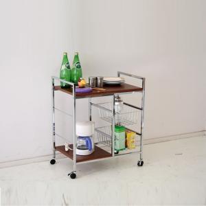 キッチン収納 キッチンワゴン キャスター付き 60cm ワイドワゴン ファイン|cestlavie
