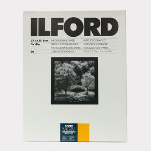 【外装不良】ILFORDPHOTO RC印画紙 マルチグレードIV RC デラックス 25M(Satin半光沢) 11x14 50枚入|cgc-webshop