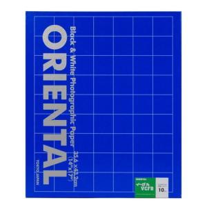 【外装不良】ORIENTAL バライタ印画紙 イーグル VCFB(光沢) 14x17 10枚入