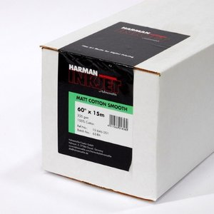 【生産終了・外装不良】HARMAN by Hahnemuhle インクジェットロール紙 HCS001 マットコットンスムーズ 60inx15m cgc-webshop