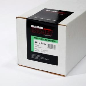 【生産終了・外装不良】HARMAN by Hahnemuhle インクジェットロール紙 HCS002 マットコットンスムーズ 44inx15m|cgc-webshop