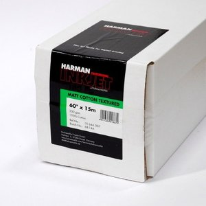 【生産終了・外装不良】HARMAN by Hahnemuhle インクジェットロール紙 HCT007 マットコットンテクスチャー 60inx15m|cgc-webshop