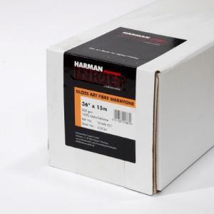 【生産終了・外装不良】HARMAN by Hahnemuhle インクジェットロール紙 HAW021 グロスアートファイバー ウォームトーン 36inx15m|cgc-webshop